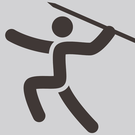 javelin: Summer sports icons set -  Javelin throw icon Illustration