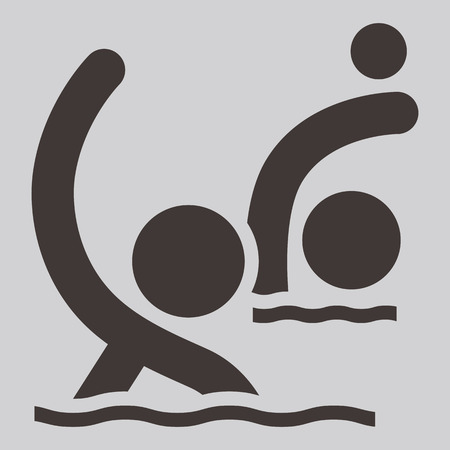water polo: Icono de Waterpolo - iconos de los deportes de verano