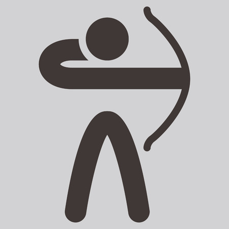 Summer sports icons set - Archery icon