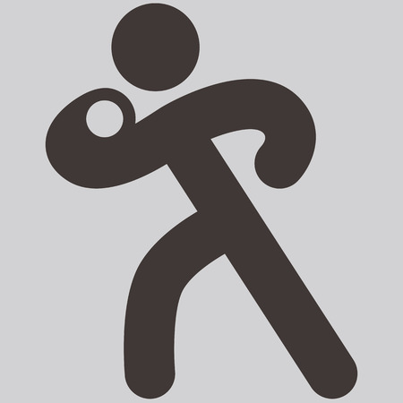 lancio del peso: Icone di sport estivi set - getto del peso icon