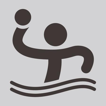 waterpolo: Icono de Waterpolo - iconos de los deportes de verano