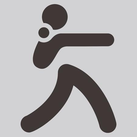 shot put: Iconos de los deportes de verano set - icono de lanzamiento de peso Vectores