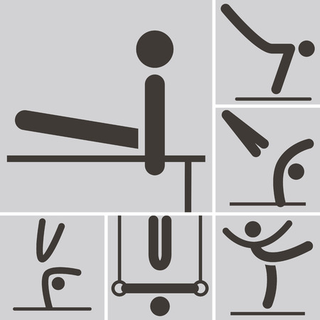 Summer sports icons set - Gymnastics Artistic icon Vector