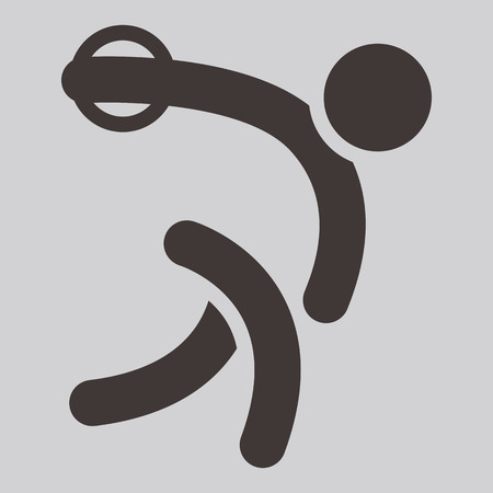 discus: Summer sports icons -  discus throw icon Illustration