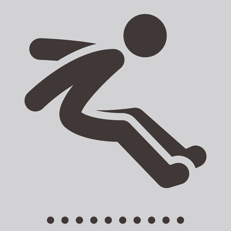 Summer sports icons - long jump icon Vector