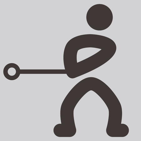 hammer throw: Summer sports icons -  hammer throw icon Illustration