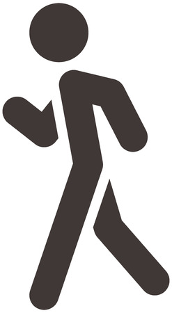 a walk: Summer sports icons set - heel-and-toe walk Illustration
