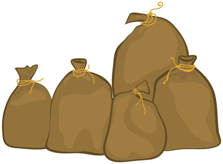 Group of sacks Stock Vector - 28259054