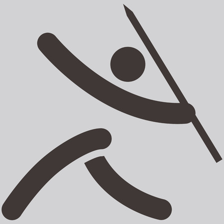 javelin throw: Summer sports icons set -  Javelin throw icon Illustration