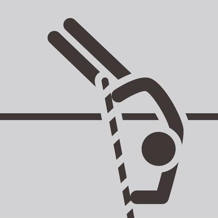 pole vault: Summer sports icons - pole vault icon