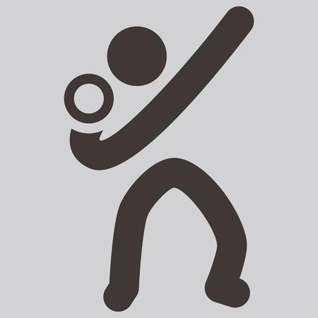lancio del peso: Icone di sport estivi set - lancio del peso icon Vettoriali