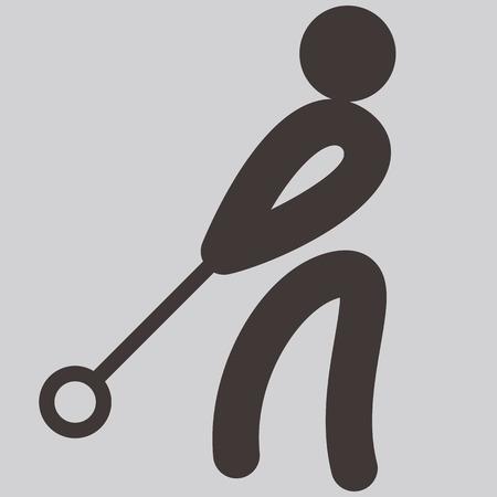 lancer marteau: �t� ic�nes de sports - lancer du marteau ic�ne