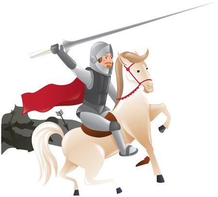 joust: Knight with lance on horseback