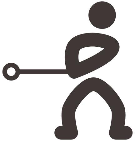 lancer marteau: �t� ic�nes sportives - lancer du marteau ic�ne