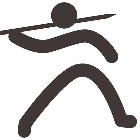 lanzamiento de jabalina: Iconos de los deportes de verano set - Icono Lanzamiento de jabalina
