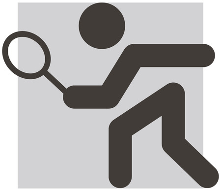 Summer sports icons - tennis icon Vector