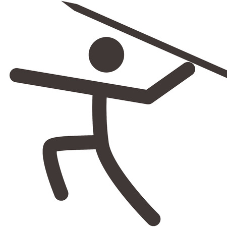 javelin throw: Summer sports icons set - Javelin throw icon
