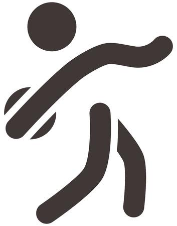 lanzamiento de disco: Verano iconos deportivos - icono de lanzamiento de disco
