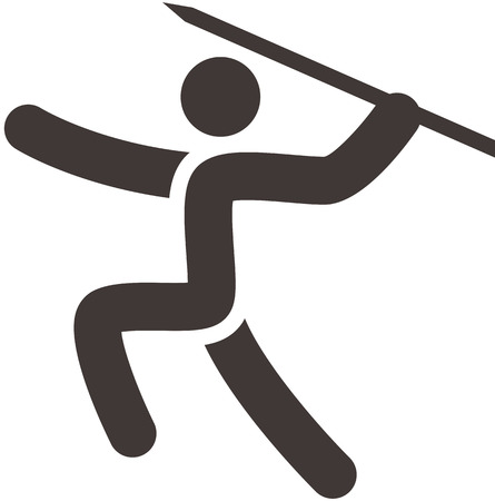 lanzamiento de jabalina: Verano iconos de los deportes fijados - icono de Lanzamiento de jabalina Vectores