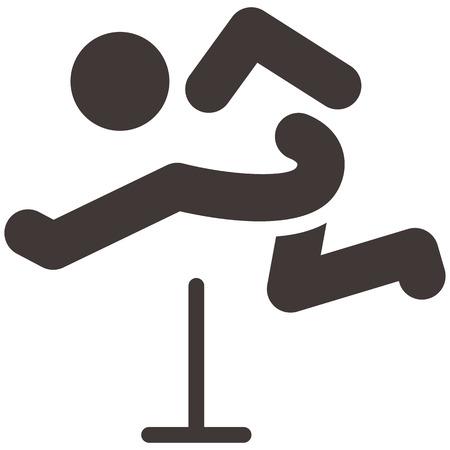 Sommersport-Ikonen - läuft Hürden Symbol