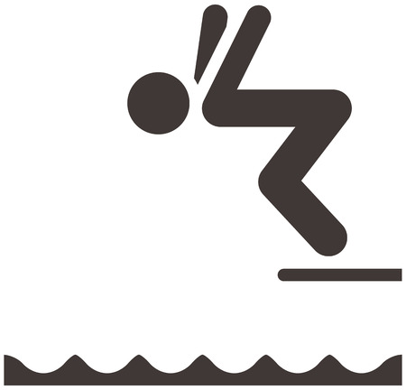 Summer sports icons - diving icon Vector