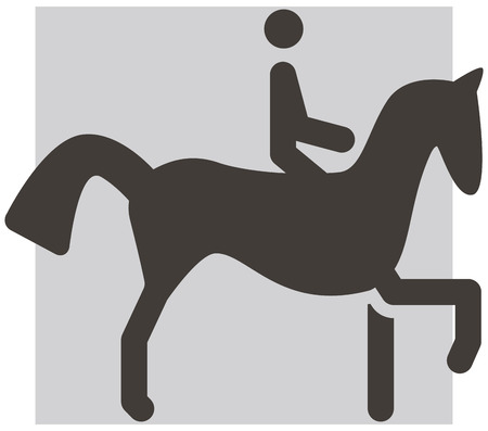 eventing: Summer sports icon - equestrian icons Illustration