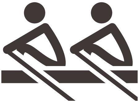 Summer sports icons set -  rowing icon Vettoriali