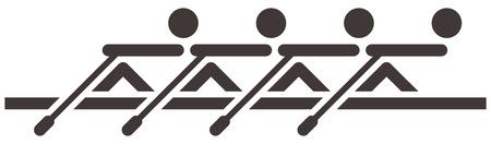Zomersporten icons set - roei-icoon