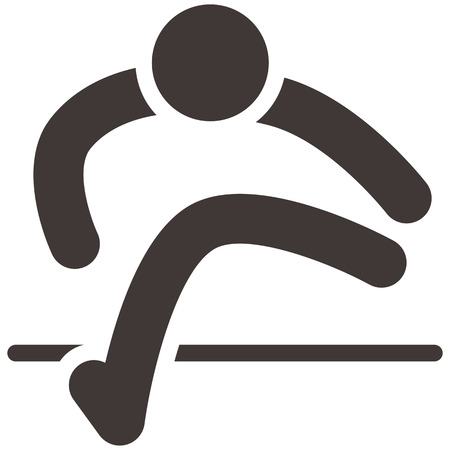 Summer sports icons - running hurdles icon