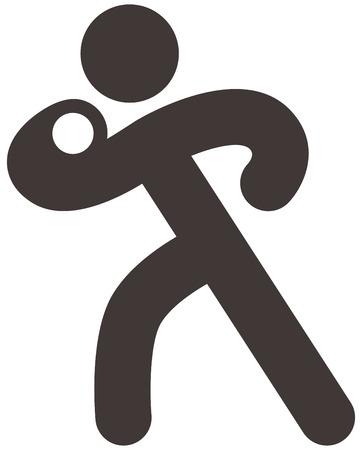 lancio del peso: Icone Sport estivi set - lancio del peso icon