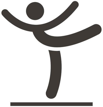 Summer sports icons set - Gymnastics Artistic icon Vector