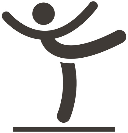 Summer sports icons set - Gymnastics Artistic icon