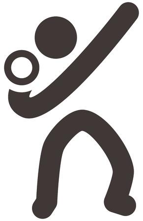 shot put: Verano iconos deportivos set - icono lanzamiento de peso Vectores