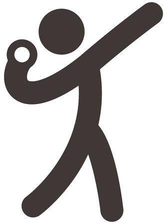 Sommersport-Icons Set - Kugelstoß-Symbol Standard-Bild - 31209695