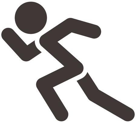 Zomersporten iconen - hardlopen pictogram