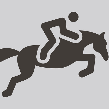 horse racing: Summer sports icon - equestrian icon