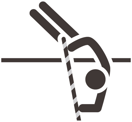 pole vault: Summer sports icons - pole vault icon