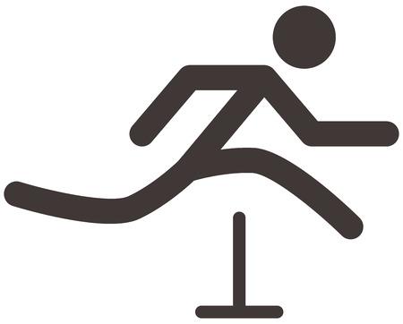 hurdles: Summer sports icons - running hurdles icon
