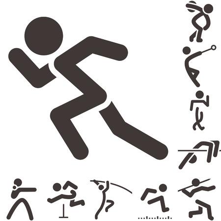Summer sports icons -  set of athletics icons