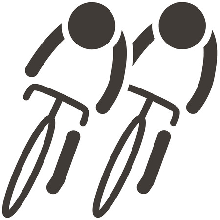 Summer sports icons -  cycling icon Ilustração