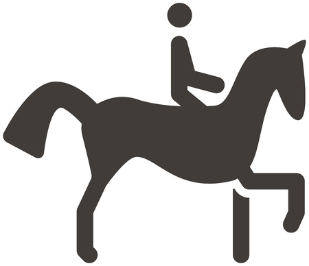 Summer sports icon - equestrian icon Vector