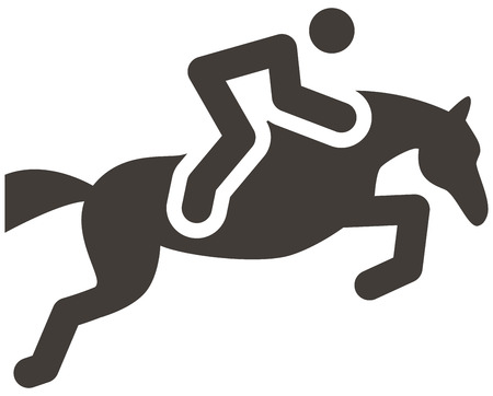 Summer sports icon - equestrian icon Vector