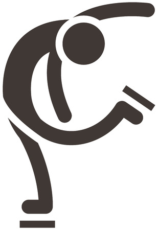 winter sport: Winter sport icons set - figure skating icon