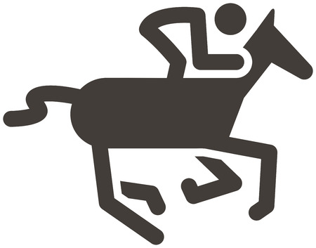 eventing: SumSummer sports icon - equestrian icon Illustration