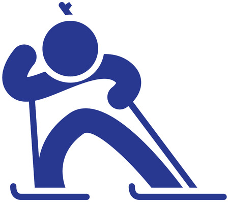 speed gun: Winter sports icons set - Biathlon icon