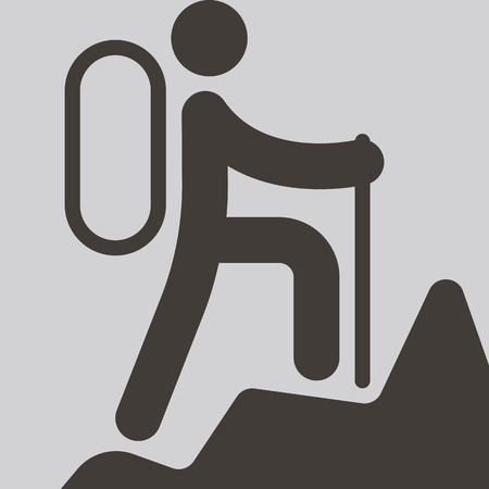 mountaineering: Extreme sports icon set - mountaineering icon