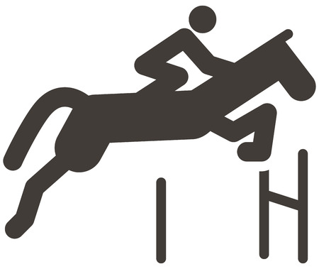 eventing: Summer sports icon - equestrian icon
