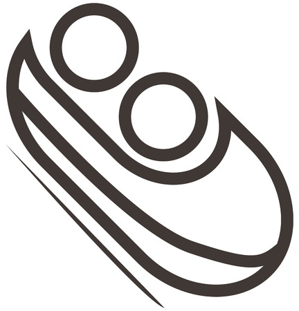 bobsled: Winter sport icons set - Bobsled icon