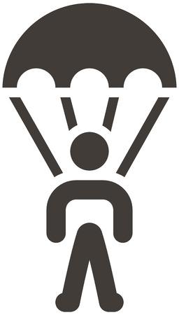 extreme sports: Extreme sports icon set - parachute sport icon