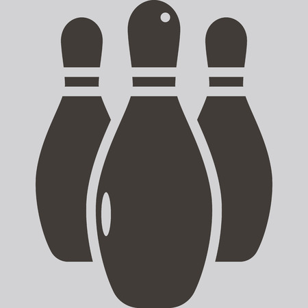 bowling pin: Health and Fitness icons set - bowling icon Illustration